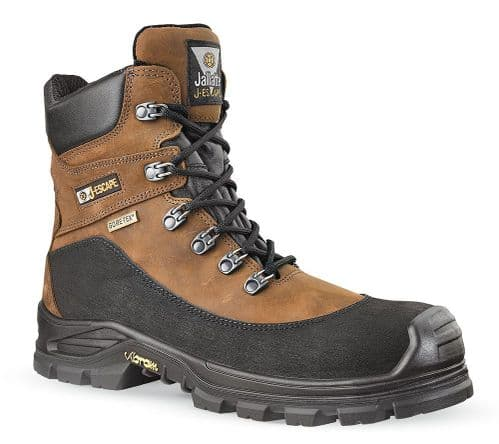 Jallatte Jalacer S3 Brown Leather Gore-Tex Vibram Safety Boots